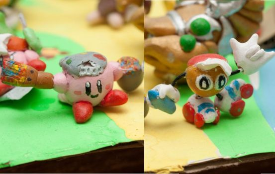 Paint Kirby and Paint Roller by pogsaregood