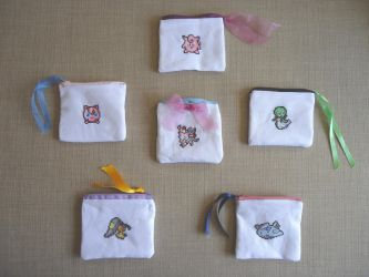 Fairy Pokemons pouches collection by Miloceane