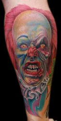 Pennywise the clown by tat2istcecil