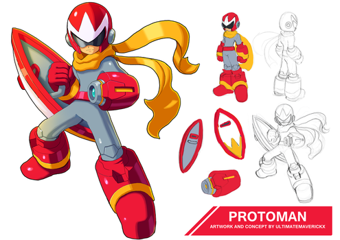 Protoman by ultimatemaverickx