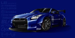 Commission - LB Works GTR by Spoonboy