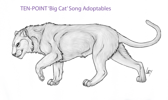 Custom Song Adoptables -Big Cat- Edition by Dancing-Kiwi