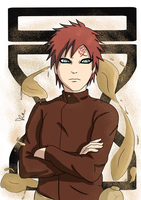 Gaara Of The Sand by Rues-art