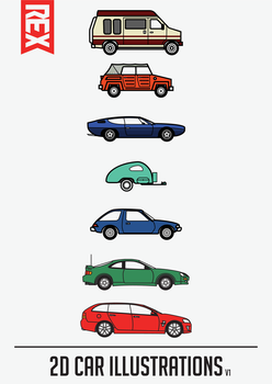 Car Illustraions (V1) by Axle9
