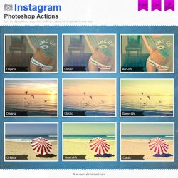 Instagram Photoshop Actions by Wnison