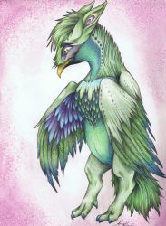 Magical Griffin by myartamyhart