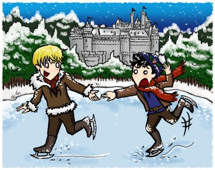 Christmas in Camelot by blackbirdrose