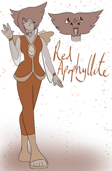 Red Apophyllite by Ikilou