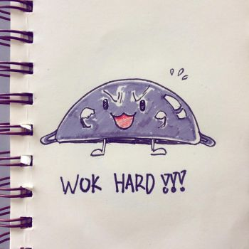 Wok Hard by Disegnophilia
