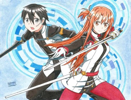 Kirito and Asuna (Ordinal Scale) by Allissei