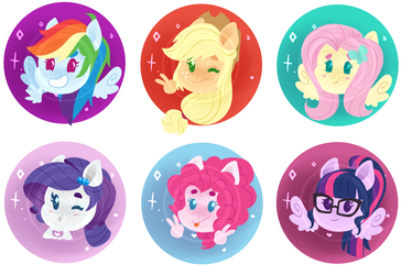 YCH - Equestria Girls chibi head shot icon by WhalePornoz
