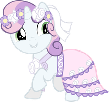 Sweety Belle in her wedding dress by sapoltop