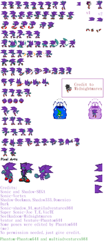 Venture The Dark v2 sprites sheet by Phantom644