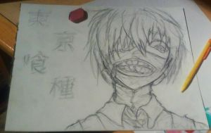 No color Tokyo Ghoul trad sketch by Absolthezhang