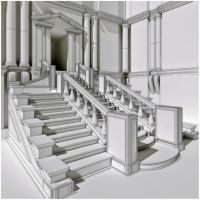 Laurentian's Stairs WiP by Damiano79