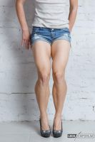 Muscular Legs and Calves of Maria - Legs Emporium by LegsEmporium