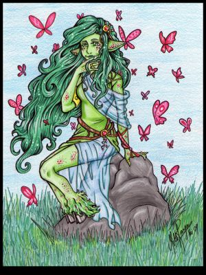 Green Dryad by norsepearl