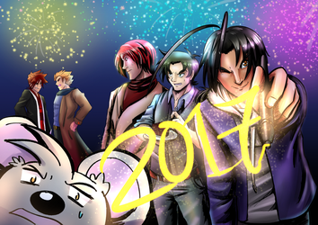 New Year 2017 Ver2 by witch-girl-pilar