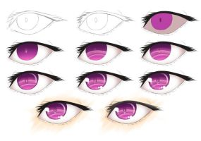 Semi-Realistic Eye Tutorial - Amethyst by calbhach