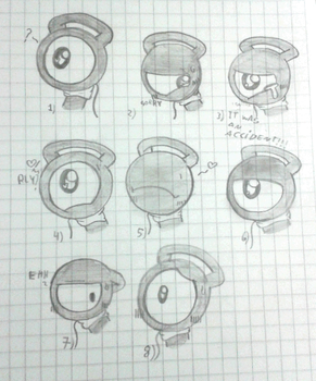 Glury expressions doodles by GluryTheUnown
