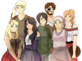 [+SPEED-PAINT]Shingeki no Kyojin OCs + description by Lau-Rose