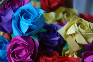 Origami Roses by lisadeng