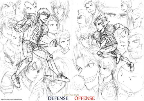 Japan All-Stars sketch by F-one-R