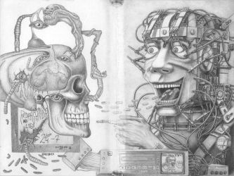 T.V. equals BRAIN ROT by PauloCunha
