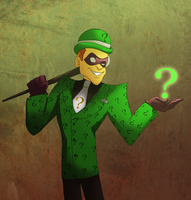 Riddler the animated version by pink-ninja