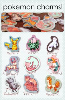 Pokemon Charms for Sale! by pearlls