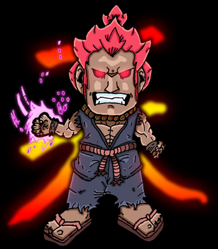 Akuma (Gouki) - Street Fighter by SamsterBoy