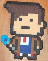 Doctor Who 10th Doctor Perler by LillyInverse