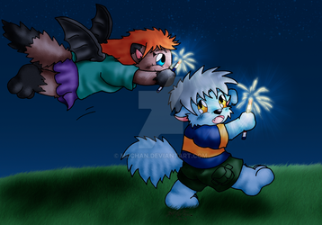 Kairy and Zellie by mdchan