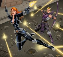 Black Widow + Hawkeye by Brian-Robertson