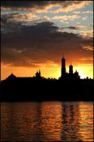 Silhouette of Moscow by Nickdan