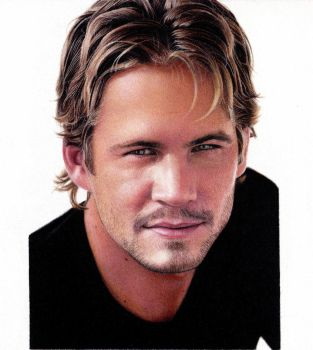 Portrait Drawing of PAUL WALKER by ShaunMckenzie