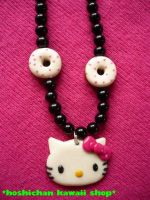 Hello kitty and donuts necklac by emily1707