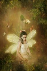 The sweet little fairy by CindysArt