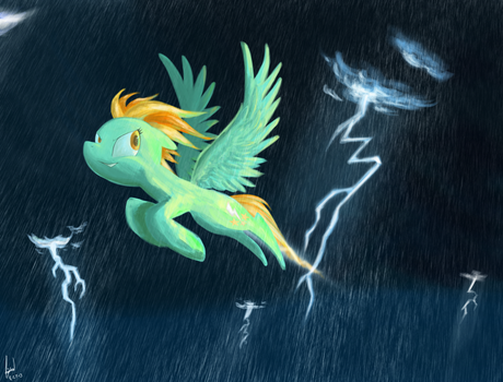 Lightning In the Rain by Rixnane