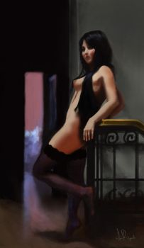 Pinup Speedpainting by igorbusquets