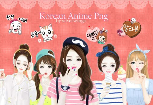 korean anime png clipart by shafiranisa