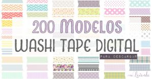 200 kinds of Washi Tape Digital (Free Download) by MissLavanda