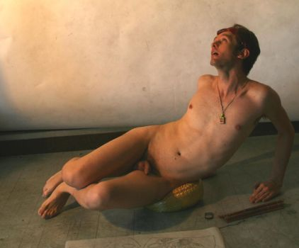 Nude Male Reclining 3 by TheMaleNudeStock