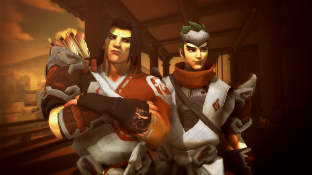MMD - Young Hanzo and Genji by Togekisspika35