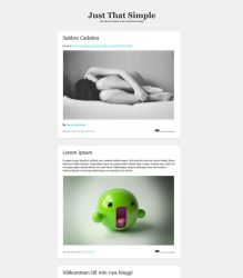 Just That Simple - Free Blogdesign by E-moX