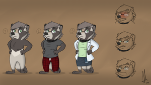 [COMM] Zootopia, Lusk the Tanuki - Character Sheet by bullpoopsniperrifle