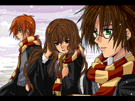 HP- Winter at Hogwarts by meru-chan