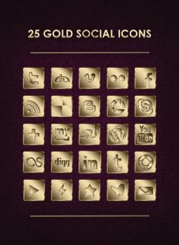 Gold Icons by diopavei