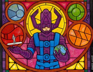 Galactus Stained Glass by PedroLajud
