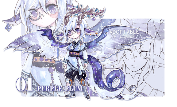 [closed] Stella Draco 01 : Purple plum by Yingrutai